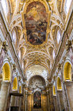 San Luigi dei Francesi. The Church of St. Louis of the French ceiling Stock Image