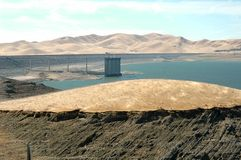 San Luis Dam. Reservoir, California Royalty Free Stock Photo