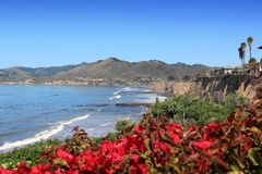 San Luis Obispo county. California, USA - Pacific coast view. Shell Beach in Pismo Beach township (San Luis Obispo county stock image