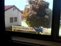 San Luis Obispo, Kalifornia Amtrak Signage od pociągu royalty ilustracja
