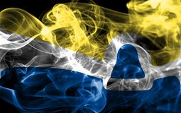 San Luis Obispo miasta dymu flaga, Kalifornia stan, Stany Zjednoczone Obrazy Royalty Free