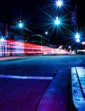 San Luis Obispo på natten Arkivbild