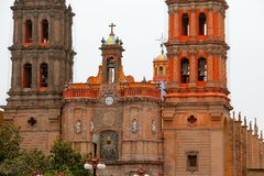 San luis potosi cathedral IX. Belfry of the cathedral of san luis potosi city, mexico Stock Photography