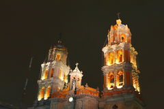 San luis potosi cathedral VII. Belfries of the cathedral of san luis potosi city, mexico Royalty Free Stock Images