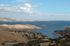 San Luis Reservoir. Near Los Banos, California Stock Images