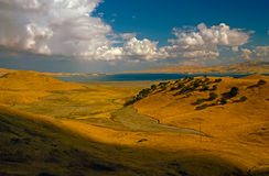 San Luis Reservoir. In California Stock Images
