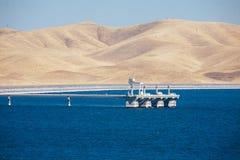 San luis reservoir at high capacity Royalty Free Stock Image