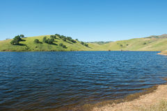San Luis Reservoir. High water levels in San Luis Reservoir, San Joaquin Valley, California Stock Images