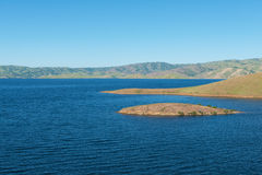 San Luis Reservoir. High water levels in San Luis Reservoir, San Joaquin Valley, California Stock Image