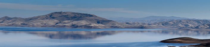 San Luis Reservoir, la contea di Merced, California Fotografia Stock Libera da Diritti