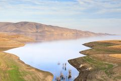San Luis Reservoir Views in Autumn. San Luis Reservoir off Highway 152 in Merced County, California, USA Stock Image