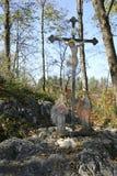 San Magnus Memorial Cross vicino a Fuessen, Baviera Fotografia Stock