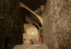 San-Malo alla notte, Francia immagini stock libere da diritti