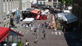 San Malo Place Chateaubriand From una prospettiva aerea video d archivio