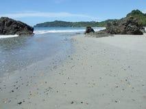 San Manuel Antonio Beach, Costa Rica, Shoreline View. Beautiful shoreline view of San Manuel Antonio Beach, Costa Rica royalty free stock photos