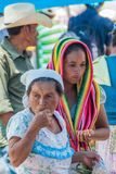 SAN MANUEL DE COLOHETE, HONDURAS - APRIL 15, 2016: Local indigenous people at a market. There is a big market in this. Village twice a month stock photography