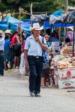 SAN MANUEL DE COLOHETE, HONDURAS - APRIL 15, 2016: Local indigenous people at a market. There is a big market in this. Village twice a month royalty free stock photography