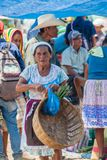 SAN MANUEL DE COLOHETE, HONDURAS - APRIL 15, 2016: Local indigenous people at a market. There is a big market in this. Village twice a month royalty free stock images