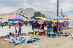 SAN MANUEL DE COLOHETE, HONDURAS - APRIL 15, 2016: Local indigenous people at a market. There is a big market in this. Village twice a month royalty free stock image