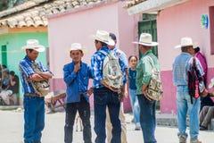 SAN MANUEL DE COLOHETE, HONDURAS - APRIL 15, 2016: Local indigenous people at the stree. T stock image