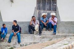 SAN MANUEL DE COLOHETE, HONDURAS - APRIL 15, 2016: Local indigenous people at the stree. T stock photography