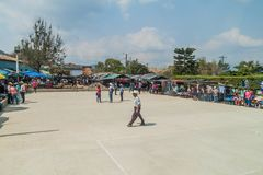 SAN MANUEL DE COLOHETE, HONDURAS - APRIL 15, 2016: View of a market. There is a big market in this village twice a mont. H stock photography