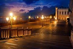 San Marco alla notte immagine stock