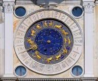 San Marco astrologiklocka Royaltyfria Foton