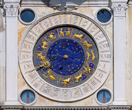 San Marco astrology clock. Zodiac clock at San Marco square in Venice royalty free stock photos