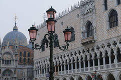 San Marco Basilica and Doge`s Palace in San Marco Square, Venice Stock Photography