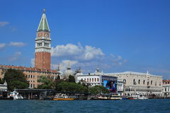 San Marco Bell Tower and Doge Palace Stock Photos