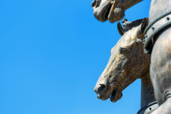 San Marco bronze horses on the blue sky background Royalty Free Stock Photography