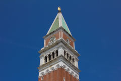 San Marco Campanile bell tower located in the main square of Venice Stock Photo