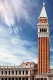 San Marco Campanile and Biblioteca Nazionale Marciana in Venice Stock Image