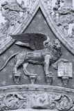 San Marco Campanile, the lion details, Venice, Italy royalty free stock photography