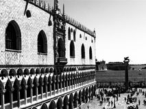 San Marco Cathedral. Crowded Piazza San Marco in front of the Cathedral in Venice Stock Photography