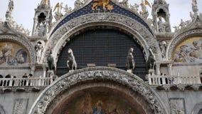 San Marco Cathedral eller basilikaarkitektur italy venice lager videofilmer