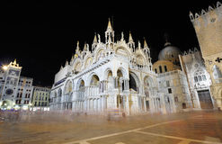 San Marco cathedral at night Royalty Free Stock Image
