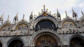 San Marco Cathedral ou arquitetura da basílica Veneza, Italy video estoque