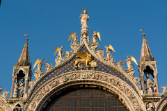 San Marco cathedral, Venice. Detail of San Marco cathedral in Venice, Italy Royalty Free Stock Photos