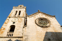 San Marco church at the old town of Korcula Royalty Free Stock Photo