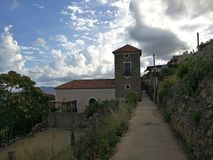 San Marco di Castellabate - torre avante através de Vallonealto Imagem de Stock