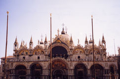 San Marco di Venezia, Italy. Front view of St. Mark's Cathedral or San Marco Basilica Stock Photo
