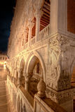 San Marco, Doge's Palace in Venice, Italy, at night stock image