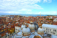 San Marco domes view from the heights, Venice, Italy Royalty Free Stock Photo