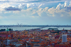 San Marco domes view from the heights, Venice, Italy Royalty Free Stock Photography