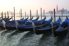 San Marco, Gondolas Stock Photo