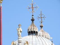San Marco kwadrat z dzwonnicy i San Marco bazyliką Główny plac stary miasteczko Wenecja, Veneto Włochy obraz stock