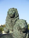 San Marco Lions gelegen in Jacksonville Lizenzfreie Stockfotos