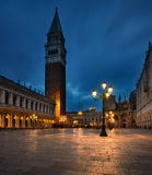 San marco. At night with the lights on Royalty Free Stock Photos